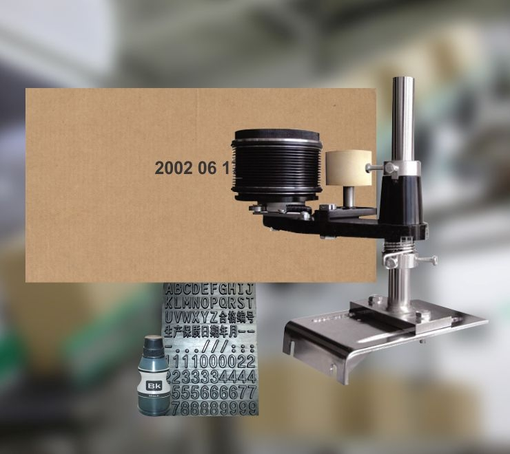Codificador manual para cajas de cartón
